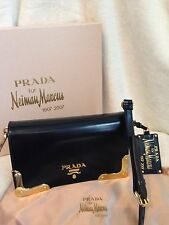 **RARE LIMITED EDITION* PRADA Black Leather Gold Handbag - Neiman's 100 yr Anniv