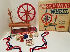Vintage Remco Little Red Spinning Wheel in Box + Instructions