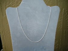 "NEW ITALIAN STERLING SILVER SNAKE CHAIN- 14""-ITALY 925- CHILDRENS & SMALL NECKS"