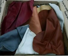 5 Pound Bulk Scrap Leather Trimmings 1 to 4 oz Cowhide Remnants Color Craft Mix