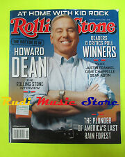 ROLLING STONE USA MAGAZINE 941/2004 Howard Dean Kid Rock Sean Astin  No cd