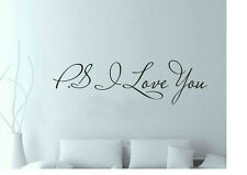 wall sticker adesivi muro murali parete i love you ps frasi scritta !