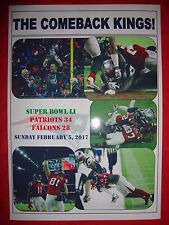 New England Patriots 34 Atlanta Falcons 28 - Super Bowl LI (51) - souvenir print