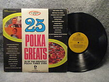 33 RPM LP Record 25 Polka Greats Volume One 1 K-tel Records NC 420 / AS 10472