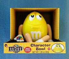 "YELLOW M&M'S CHARACTER DISPENSER 10"" BOWL FIGURE LIMITED EDITION 2014 M&MS"