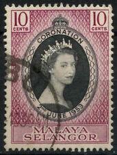 Malaya Selangor 1953 Coronation Used #A81729