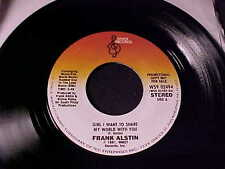 FRANK ALSTIN Girl I Want To Share My World With You PHILLY SWEET SOUL DJ 45 Hear