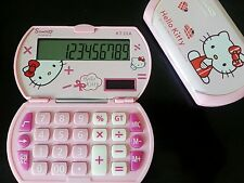 2PCS Girls New Mini Hello Kitty Foldable Pocket Basic Electronic Calculator
