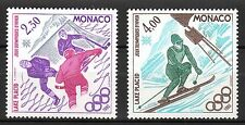 Monaco - 1980 Olympic games Lake Placid - Mi. 1419-20 MNH