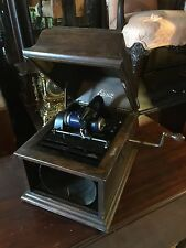 antique edison phonograph Amberola Cylinder Player Works