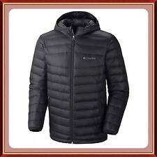 NWT Men's COLUMBIA PLATINUM 860 Turbodown Hooded Omni Heat JACKET BLACK - Large