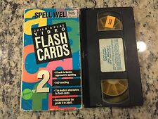 CHILD'S PLAY VIDEO FLASH CARDS SPELL WELL PART 2 VHS KIDS EDUCATIONAL LEARNING!