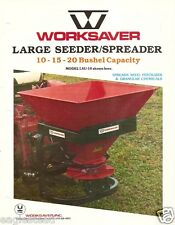 Farm Equipment Brochure - Worksaver - Seeder Spreader ATV - 3 items (F2411)