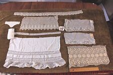 Lot Of 8 Antique French Victorian Lace Doll &Boudoir Projects~Machine & Handmade