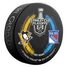 2016 NHL New York Rangers - Pittsburgh Penguins Stanley Cup Playoffs Hockey Puck