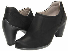 Ecco Sculptured 65 Black Leather Bootie /Ankle Boots  Women's 41/10-10.5 M