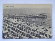 GRADO spiaggia Gorizia vecchia cartolina grande