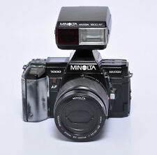 Minolta Maxxum 7000 35mm Film Camera w/ an 80-200 Lens & External Flash Unit Kit