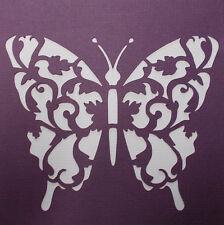 Scrapbooking - STENCILS TEMPLATES MASKS Sheet - Butterfly Flourish 02