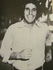 Henry Winkler, Happy Days, Full Page Vintage Pinup, Fonzie