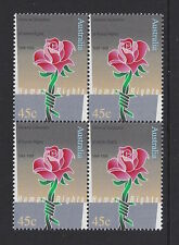 Australia 1998 Human Rights Block of 4 Stamp Set