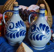 """Öl und Essig Fass""  Salt Glazed Stoneware Cruetts to Add Fun in the Kitchen"