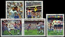 PARAGUAY 1987-Football Match Scenes-Set of 5-Used stamps