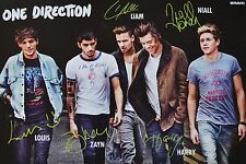 ONE DIRECTION - Autogrammkarte - Autograph Autogramm Clippings Fan Sammlung