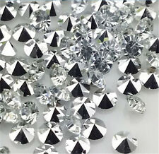 100pcs 6mm White Crystal beads Point back Rhinestones Glass Chatons Strass