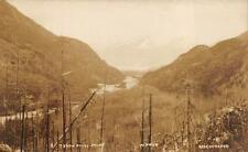 RPPC FROM ROCKY POINT W.P. & Y.R. RAILROAD ALASKA REAL PHOTO POSTCARD (c. 1910)