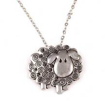 New St Justin Pewter Swirly Sheep Pendant Necklace UK Made PN189
