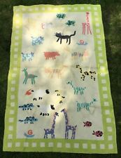 Large Vintage Abstract Animals Design Area Rug. Child Kids Room Colorful. RARE