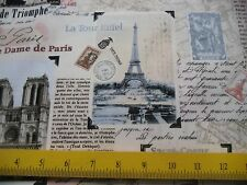 Timeless Treasures Fabric of Paris Opera House Eiffel Tower Moulin Rouge 4 Totes