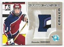 05/06 ITG Heroes & Prospects Emblem Gold Alexander Ovechkin 4 Color Jersey SP/10