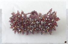 Bracelet Dentelle Améthyst Perles Rondes Crystal  Facettées Et Rocailles