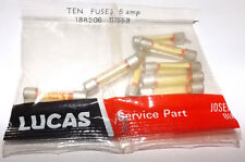 GENUINE LUCAS FUSES 5Amp NEW OLD STOCK PACK OF 10 LUCAS PART No.188206