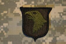 Military Patch US Army 101st Airborne Division Green OD BDU RARE Authentic