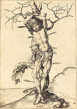 Martin Schongauer Reproduction: Saint Sebastian - Fine Art Print