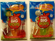 Children's Birthday Party Bag Filler Sweets-SUGAR FREE HEALTHY LOLLIPOPS x10