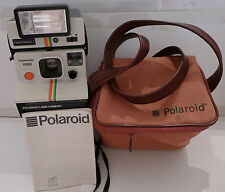 Polaroid SX-70 Rainbow OneStep SUPERCOLOR 1000 Instant Camera +Q-Light &Bag RARE