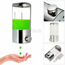 500ml Chrome Wall Mount Shower Shampoo Liquid Soap Lotion Dispenser Bathroom