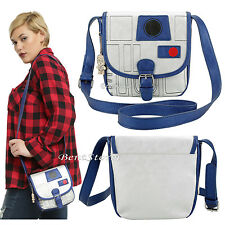 Star Wars Disney R2D2 R2-D2 Metallic Hand Bag Mini Saddle Crossbody Purse C3PO