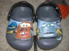 "CROCS Disney CARS 2 Kids Clogs Shoes ""Mater v Finn McMissle Race"" Sz C4/C5 NWT"