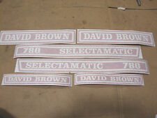 NEW 780 DAVID BROWN SELECTAMATIC TRACTOR DECAL KIT