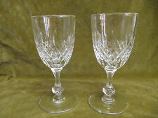 2 verres à eau cristal taillé Saint Louis no tommy (crystal water glasses)