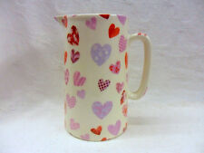 "patchwork hearts 2 pint pitcher jug by Heron Cross Pottery ""special offer"""