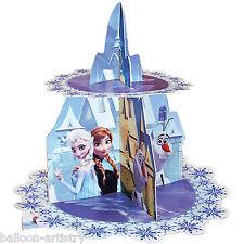28cm De Disney Frozen Elsa Anna Snow Queen Partido Castillo Cupcake Pastel Stand