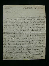 Sir James Bland Burges 1793 Autograph Letter to Sir William Hamilton