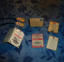 TITANIC COLLECTION DOLLHOUSE MINIATURE 1:12 SCALE Actual miniaturized items