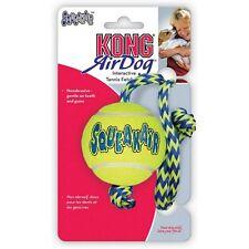 3 x Medium Kong Airdog Squeakair Tennis Ball on a Rope Squeaky Dog Toy bulk Save